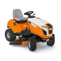 STIHL RT 4112 SZ jól manőverezhető, oldalkidobós, 2 hengeres fűnyíró traktor, akadályokkal teli kertekbe, 110 cm munkaszélesség,13 LE